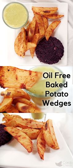 Crispy Baked Potato Wedges Recipe by Carob Cherub | You'll love this healthy potato wedge recipe! I love to make this recipe for dinner with a big bowl of chili. Easy, simple and perfect for those on a budget. @carobcherub.