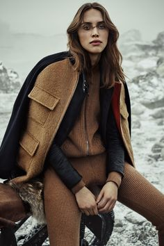 camel cashmere ribbed faux-underwear jumpsuit • tough-luxe