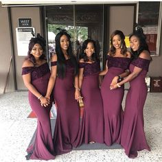 Off The Shoulder Mermaid Bridesmaid Dresses, BW93983 on Luulla Mermaid Bridesmaid Dresses, Wedding Dresses, Prom Dresses, Girls Night Drinks, Lace Evening Dresses, Burgundy Wedding, Custom Dresses, Wedding Trends, Wedding Ideas