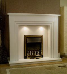 """Axon Apollo 54"""" Wooden Fireplace Surround with Down lights option Direct Fireplaces - Fireplaces, Fire Surrounds, Gas Fires and Electric Fires."""