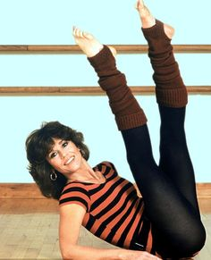 Jane Fonda setting off 1980s aerobics craze