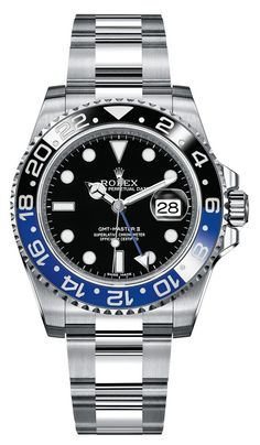 We love this new GMT II 116710BLNR Black and Blue Rolex, just introduced at Baselworld 2013 #rolex #gmt #baselworld