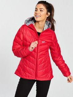 Jack Wolfskin Helium Down Jacket - Red Latest Fashion, Kids Fashion, Winter Jackets, Red, Shopping, Collection, Women, Xmas, Winter Coats