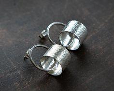 Sterling silver earrings Silver studs Silver by Kailajewellery