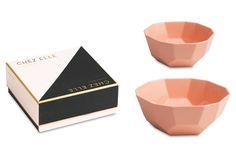 S/2 Chez Elle Bowls, Pink