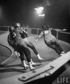 Women's Roller Derby, 1948 (LIFE)    Reeeallly want to try this... AFTER I get a job with health insurance.