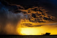 Gold - Often the end of the chase can provide the most incredible moments during storm chasing. This was the case on this day in Colorado as the sun was setting behind a decaying storm. Photography by Brad Hannon