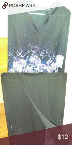 Vera Wang shirt NWT super cute. Has a slit in the back as shown in 2nd picture. It was made that way Vera Wang Tops Blouses