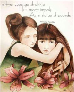 The lily sisters by Montréal, Québec artist Claudia Tremblay. Art Floral, Illustrations, Illustration Art, Claudia Tremblay, Sibling Gifts, Sisters Art, The Embrace, Mystique, Sister Gifts