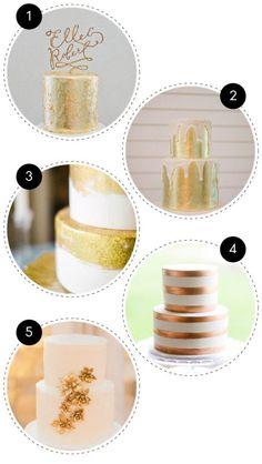 gold wedding cake 11