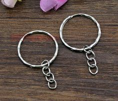 30pcsKey chain Silver Key rings with Attached by DIYTreasureBox, $2.97