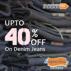 Upto 40% off on #Denim #Jeans at #jabong! Visit : http://www.couponcanny.in/jabong-coupons/