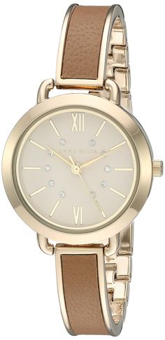 Anne Klein Women's Quartz Metal and Alloy Dress Watch, Color:Brown (Model: AK/2436DTGB) *** You can get additional details at the image link.