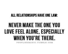 All relationships have one law …
