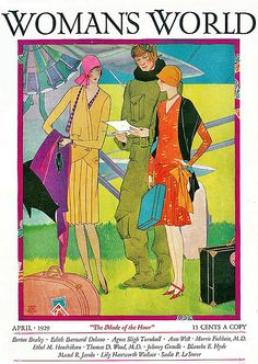 About To Fly Away--Woman's World Magazine--Flappers--1920s