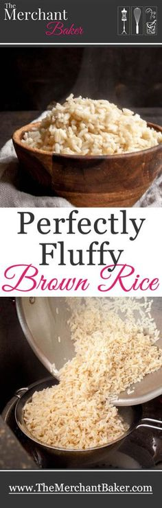 Perfectly Fluffy Brown Rice. No more mushy, wet or sticky brown rice. This is the easy, fool proof secret to cooking perfect brown rice.
