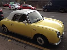 Canary yellow Nissan Figaro Glasgow