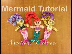 Rainbow Loom Ariel / Mermaid Doll or Charm - Original Design - YouTube