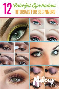 Eyeshadow Tutorials for Beginners | Gorgeous Everyday Makeup Looks by Makeup Tutorials at http://makeuptutorials.com/colorful-eyeshadow-tutorials-for-beginners/
