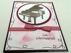 Musikalische #Geburtstagskarte mit #Waldhorn und #Klavier   http://eris-kreativwerkstatt.blogspot.de/2017/02/musikalische-geburtstagskarte-mit_21.html  #stampinup #teamstampingart #geburtstag #karte #musik