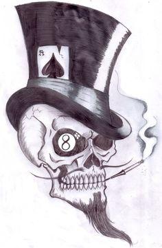 Gambling Skull by Shadow3217 on DeviantArt
