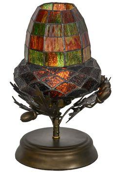 """12""""H Greenbriar Oak Mini Lamp"""