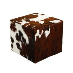 amara cow skin cube  - not sure if i like the cow skin on it but maybe something similar for the low seat/stools?