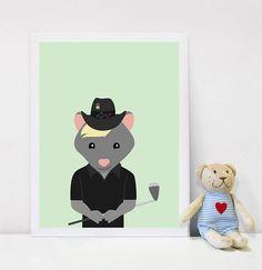 Playroom Art, wall art, printables, Possum, Wall Art Kids, Australian Animals, Golf, Baby Shower Gift, Playroom, playroom inspiration