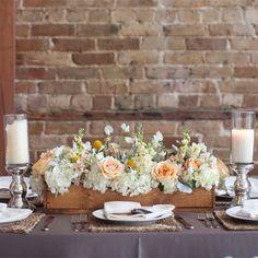 18 New Ideas Vintage Wedding Table Flowers Wooden Boxes Vintage Wedding Centerpieces, Tree Centerpieces, Wedding Decorations, Table Decorations, Wedding Vintage, Tall Centerpiece, Wedding Ideas, Wedding Rustic, Centerpiece Ideas