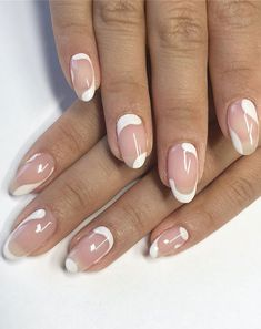 ✔ most sexy and trendy prom and wedding acrylic nails and matte nails for this season 24 Natural Nail Designs, French Nail Designs, Nail Art Designs, Acrylic Nail Designs, French Tip Design, French Nails, French Manicure Nails, French Tip Acrylic Nails, La Nails