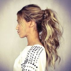 simple messy high ponytail / #long #hair  If you love texture and high volume, this messy high ponytail is for you. A teasing comb and a texturizing spray are must-haves for this look.
