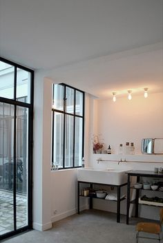 Festen Architecture is an interior design company based in Paris. Decoration Inspiration, Bathroom Inspiration, Interior Inspiration, Interior Architecture, Interior And Exterior, Interior Decorating, Interior Design, Laundry In Bathroom, Windows And Doors