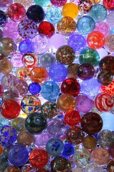 Glass Baubles at Corning Museum of Glass in Corning NY