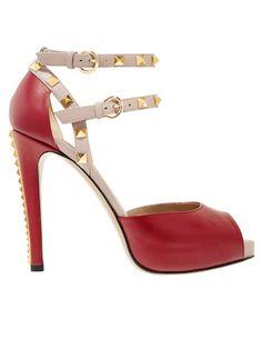 Valentino sheos #red #leather #fashion