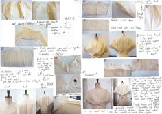 Making a toile - trial garment