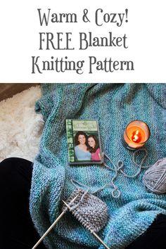 FREE Blanket Knitting Pattern Warm & Cozy by Brome Fields