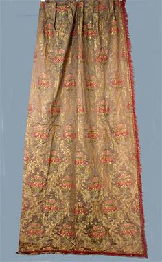 Silk Brocade Curtains & Valances, c. 1920<br /> Session 1 - Lot  234 - $850