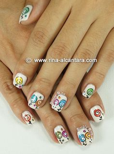 Nail Art: Happy Mothers Day check out www.ThePolishObsessed.com for more nail art ideas.