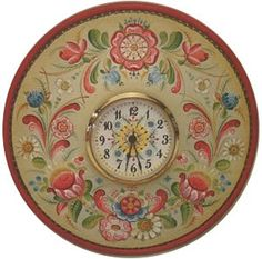 """Os Plate Clock Packet by Gayle Oram. Painted on a 10"""" Beaded Wood Clock Plate. Find it here: http://www.hofcraft.com/ptog102-os-plate-clock-by-gayle-oram.html"""