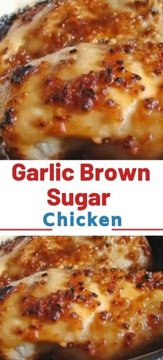 Garlic Brown Sugar Baked Chicken – Juicy, beyond DELICIOUS oven baked chicken breasts full of flavor with just a handful of ingredients and on the table in 30 minutes! I have forever and always been a Baked Chicken Breast, Chicken Breasts, Chicken Legs, Oven Baked Chicken Tenders, Juicy Baked Chicken, Chicken Tender Recipes, Garlic Chicken Bake Recipe, Bake Chicken In Oven, Chicken Bake Recipes