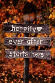 fall wedding wood sign, romantic ideas for fall wedding