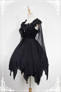 Aliexpress.com: Compre Assimétrico jsk gothic lolita dress o espírito de ballet curto dress com laço cabo de neverland de confiança neverland lolita fornecedores em LoliGals Lolita Store