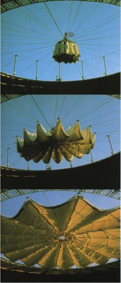 Valero Suarez: Retractable Roof, Saragossa, Spain. (Protection from the Open Air – Permanent Tensile Systems expected to last 20 years )