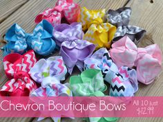 Adorable Chevron Bows on #screamingowl