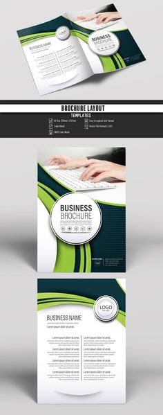 Brochure Cover Layout With Yellow And Gray Accents   Image