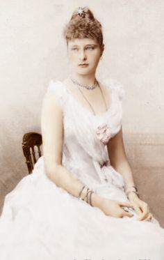 Princess Alix of Hesse, later Alexandra Feodorovna of Russia - 1890