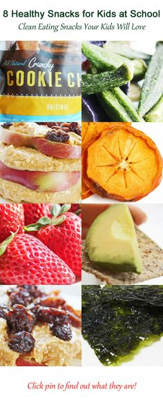 8 Healthy Snacks for Kids at School - Clean Eating Snacks Your Kids Will Love #cleaneatingdiet #cleaneatingrecipes #easyhealthyrecipes #weightlossrecipes #fitfam