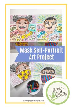 Since masks are becoming part of our day-to-day activities, an art teacher from Tennessee school district, Cassie Stephens, introduced this brilliant mask self-portrait art project for kids. #maskproject #artproject #activitiesforkids #STEAMforkids #artforkidsathome #summerartcamp #childrensartwork #kidsactivitiesathome #kidsactivityideas #playtoshine #lockdownactivitiesforkids #lockdownwithkids #homeschooling2020 #exploringnaturewithchildren #learningthroughnature #STEMforkids…