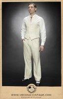1930s Style Men's Pants Linen trousers CASABLANCA nature £179.00 AT vintagedancer.com