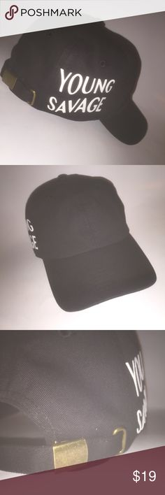 Young Savage Dad Hat NWT This Black Strapback Dad Hat is adjustable with tuck  pocket NEW   Ignore 5dd753fe6a3a